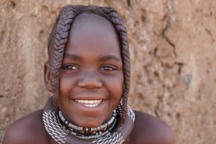 Unidentified child Himba tribe in Namibia Stock Photography