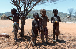 Unidentified child Himba tribe in Namibia Royalty Free Stock Images