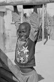 Unidentified child living in Mondesa slum Royalty Free Stock Images