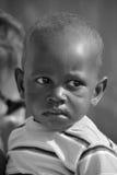 Unidentified child living in Mondesa slum Stock Images
