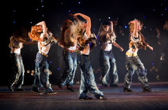 Unidentified children from dancing group Belka Stock Photography
