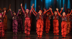 Unidentified children from dancing group Royalty Free Stock Images