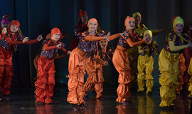 Unidentified children from dancing group Royalty Free Stock Photos