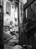 Unidentified children in Favela Rocinha. Rio De Janeiro. Brazil. Stock Photos
