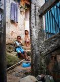 Unidentified children in Favela Rocinha. Rio De Janeiro. Brazil. Stock Photography