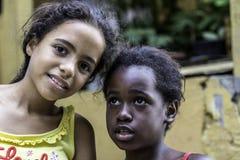 Unidentified children in Favela (slums) in Rio de Janeiro. Stock Photos