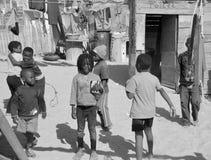Unidentified children living in Mondesa slum Royalty Free Stock Images