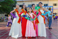 Unidentified children parade in annual sports day, Thailand Royalty Free Stock Image