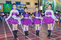 Unidentified children parade in annual sports day, Thailand Stock Photography