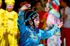 Unidentified children participating a the Chinese Culture Week Royalty Free Stock Photo