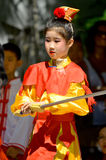 Unidentified children participating a the Chinese Culture Week Stock Photos