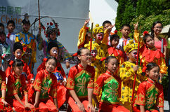 Unidentified children participating a the Chinese Culture Week Royalty Free Stock Image