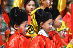 Unidentified children participating a the Chinese Culture Week Stock Photography