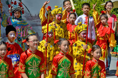 Unidentified children participating a the Chinese Culture Week Stock Image