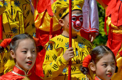 Unidentified children participating a the Chinese Culture Week Royalty Free Stock Photos