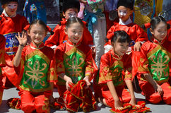 Unidentified children participating a the Chinese Culture Week Stock Images