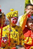 Unidentified children participating a the Chinese Culture Week Royalty Free Stock Images