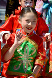 Unidentified children participating a the Chinese Culture Week Royalty Free Stock Photography