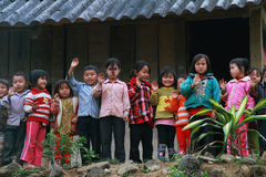 Unidentified children in a shool. HAGIANG, VIETNAM, DECEMBER 6: Unidentified children in a shool on December 6, 2011 in Ha giang province. Schools, health and Royalty Free Stock Photography