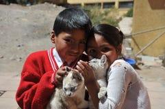Unidentified children on  street of Potosi Stock Images