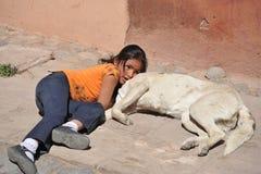 Unidentified children on street of Potosi. Stock Photography