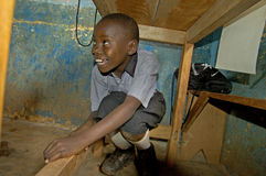 Unidentified children in township school near Kampala. Stock Photo