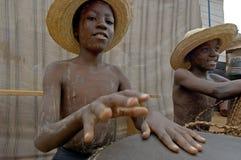 Unidentified children in township school near Kampala. Stock Photography