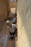 Unidentified children in township school near Kampala. Stock Image