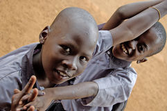 Unidentified children in township school near Kampala. Royalty Free Stock Images