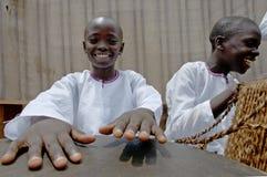 Unidentified children in township school near Kampala. Royalty Free Stock Image