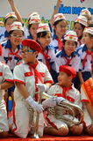 Unidentified children in uniform during the Year-end party in a kidergarten school in Saigon Stock Photography