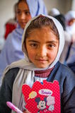 Unidentified Children in a village in the south of Skardu are learning in the classroom of the village school Royalty Free Stock Images