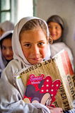 Unidentified Children in a village in the south of Skardu are learning in the classroom of the village school Stock Images