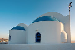 Unidentified church in Fira, Santorini, Greece Stock Photo