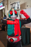 Unidentified cosplayer as Mask Rider Stock Photo