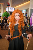 Unidentified cosplayer as Merida Royalty Free Stock Photography