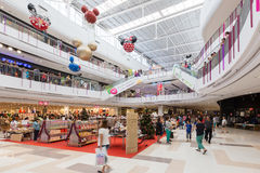 Unidentified customers  are shopping in new year 2016 celebration Stock Photos