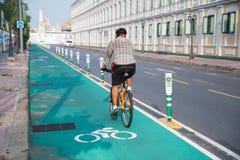 Unidentified cyklist Royaltyfri Fotografi