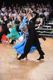 An unidentified dance couple in a dance pose during Grand Slam Standart at German Open Championship Stock Photography