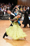 An unidentified dance couple in a dance pose during Grand Slam Standart at German Open Championship Stock Photo