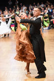 An unidentified dance couple in a dance pose during Grand Slam Standart at German Open Championship Stock Photos