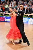 An unidentified dance couple in a dance pose during Grand Slam Standart at German Open Championship Stock Image