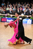 An unidentified dance couple in a dance pose during Grand Slam Standart at German Open Championship Royalty Free Stock Image