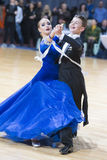 Unidentified Dance Couple Perform Adult Standard European Program on WDSF Minsk Open Dance Festival-2017 Championship Stock Photography