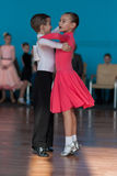 Unidentified Dance Couple Performs Juvenile-1 Standard European Program Royalty Free Stock Photos