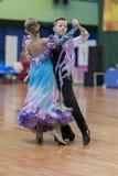 Unidentified Dance Couple Performs Juvenile-1 Standard European Program Stock Images