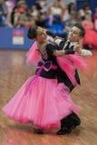 Unidentified Dance Couple Performs Juvenile-1 Standard European Program Stock Photos