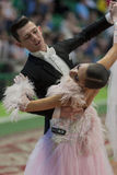 Unidentified Dance Couple Performs Juvenile-1 Standard European Program on National Championship Stock Image