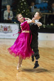 Unidentified Dance Couple Performs Juvenile-1 Standard European Program on the WDSF Baltic Grand Prix-2106 Royalty Free Stock Images