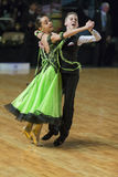 Unidentified Dance Couple Performs Juvenile-1 Standard European Program on the WDSF Baltic Grand Prix-2106 Stock Image